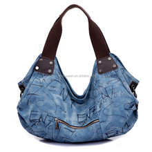 GL193 canvas bag female Korean handbag leisure brand college wind shoulder retro printing college wind female bag