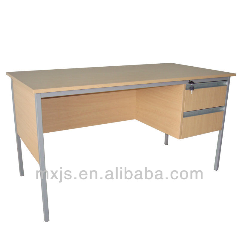 wood top steel frame school teacher desk