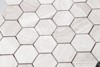 Shower Room Floor Hexagon Mosaic Tile Marble Popular Used For USA