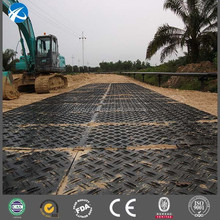 Temporary road access mats for construction roadways