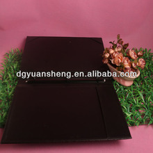 factory wholesale a4 size 3 ring binder leather resume folder