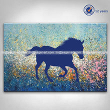 New Design 100% Handmade Animal Abstract Horse Oil Painting on Canvas