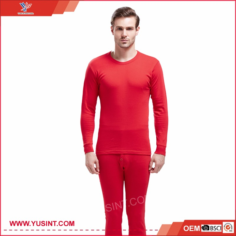 Wholesale cotton Thick Thermal Underwear man long sleeve shirts thermal underwear