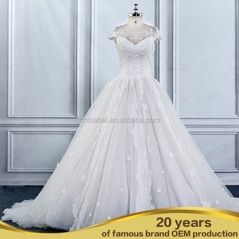 Stunning Luxury Full Appiqued Wedding Gowns In Dubai muslim bridal wedding dress
