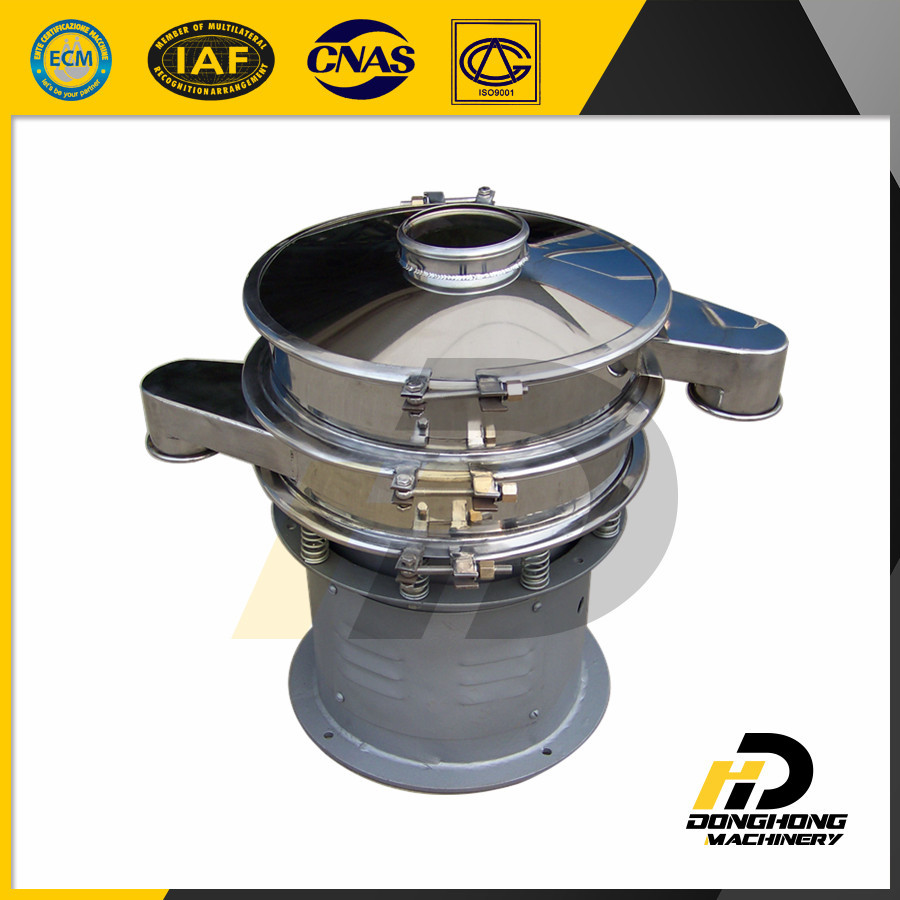 Food industry round vibrating sieve for Soybean