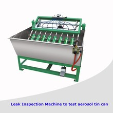 Spray Can Making Machine Production Line/Leak Inspection Machine to test aerosol tin can