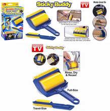 Sticky Buddy Carpets Clothes Lint Remover Cleaner Roller Brush
