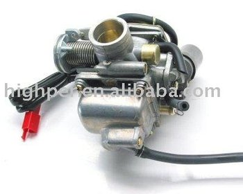 24MM Carburetor for 150cc and 125cc GY6 4-stroke QMJ152/157 QMI152/157 engines.