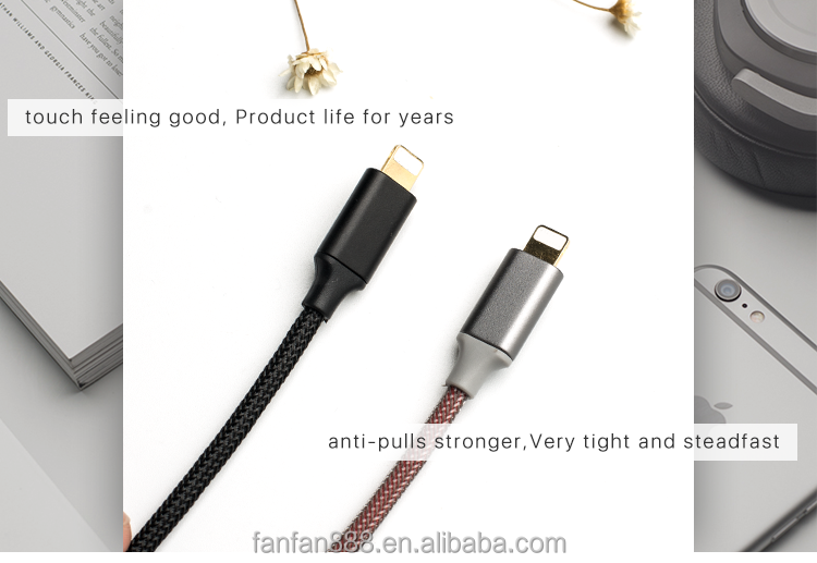 <strong>K</strong>-ball D-Fishing Net braided 8 Pin usb 2.0 cable for IPhone Tablet PC