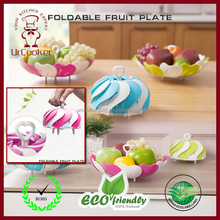 Hot sales Peacock Plastic Foldable Fruit Plate, Tray, Bowl