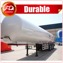 Competitive price 59.7cbm butane gas transport tanker trailer/3 axles LPG tank trailer for sale