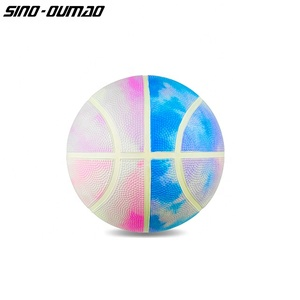 Amazon Popular Customized Low Price Colorful Rubber Basketball Ball For Adult