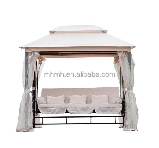 Outdoor 3 Person Patio Daybed Canopy Gazebo Swing