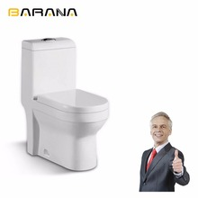 Washdown S-trap 250mm roughing-in Ceramic Toilet Floor Mount One-piece WC Toilet