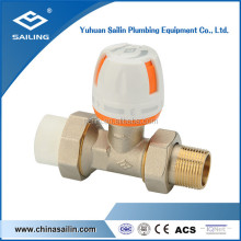 brass straight radiator valve with PPR