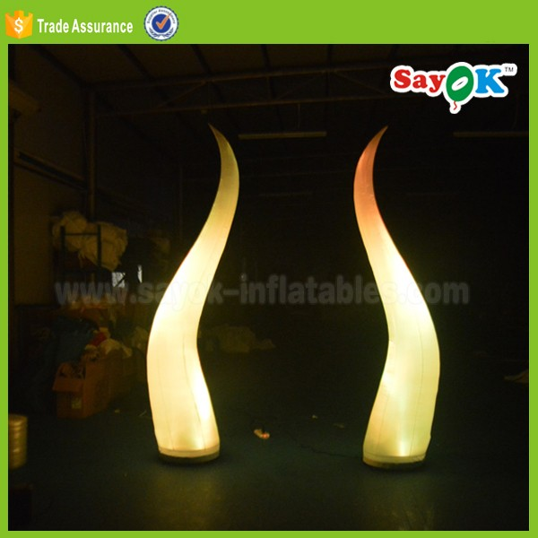 new led lighting inflatable cone tusk ivory stage decoration for sale