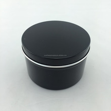 beautiful colorful coating surface metal material aluminum jar can with slip lid for cosmetic use