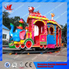 Kids games amusement park outdoor Christmas track elephant train for sale