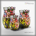 MX130522 tiffany art flower holder glass vase wedding decoration