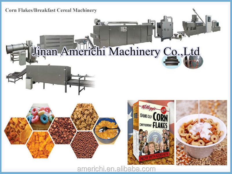Kellogg breakfast cereal corn flake making machine