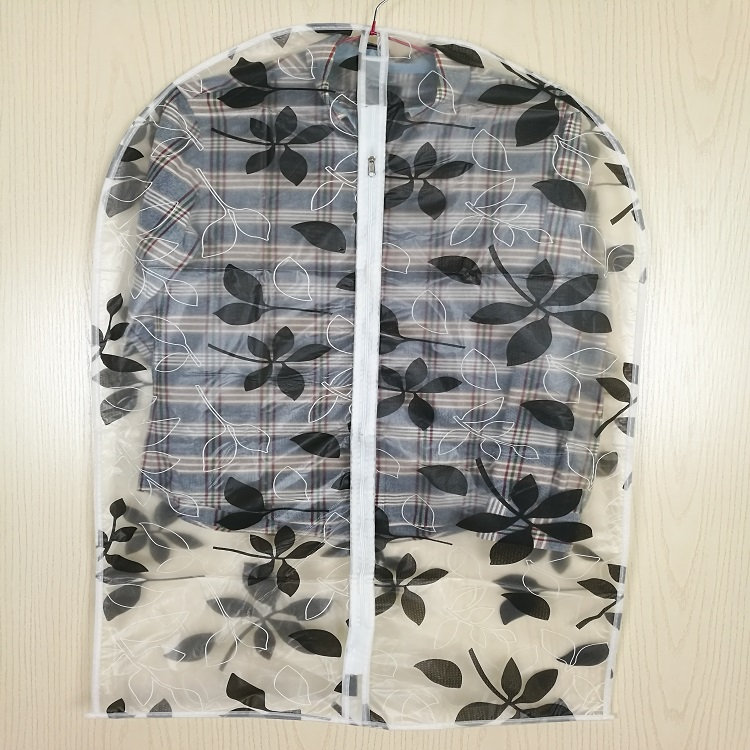 Wholesale Zipper Print PEVA Clear Plastic Suit Garment Bags