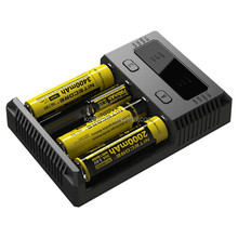 Nitecore New I4 2016 Version 4 Slots Nitecore Battery Charger Rechargeable Li-ion Battery Charger VS Nitecore D4/D2 Charger