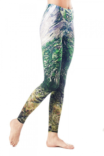Cropped tights workout capris supplex fitness clothes
