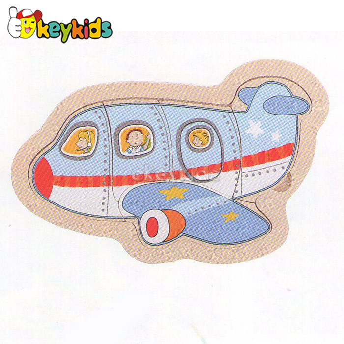 2016 wholesale baby wooden 3d puzzle airplane, funny kids wooden 3d puzzle airplane, wooden 3d puzzle airplane W14C229