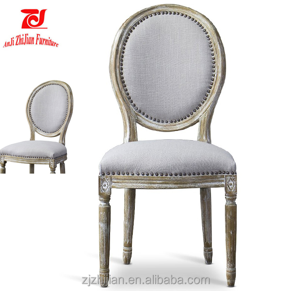 European Wood Louis Chairs Antique Reproduction French Dining Chair Shabby Chair ZJF91