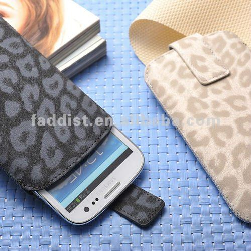 holster case for Samsung Galaxy S3 i9300 leopard pattern
