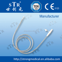 CE ISO surgical gastric drain tubing silicone x-ray stomach tube feeding