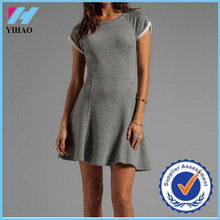 Yihao 2015 high quality custom women wear fashion dress wholeslae plain tennis dress women's clothing 2015