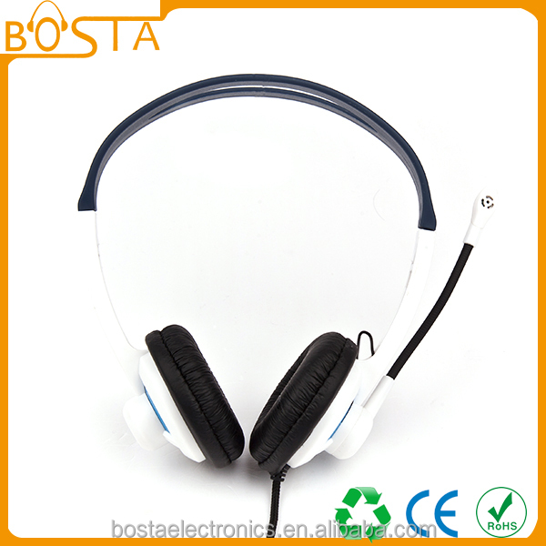 cute noise cancelling headset with communication mic for wholesale