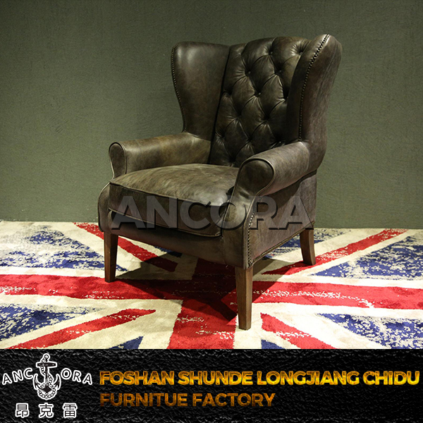 Luxurious vintage italian leather Aviator chair K692