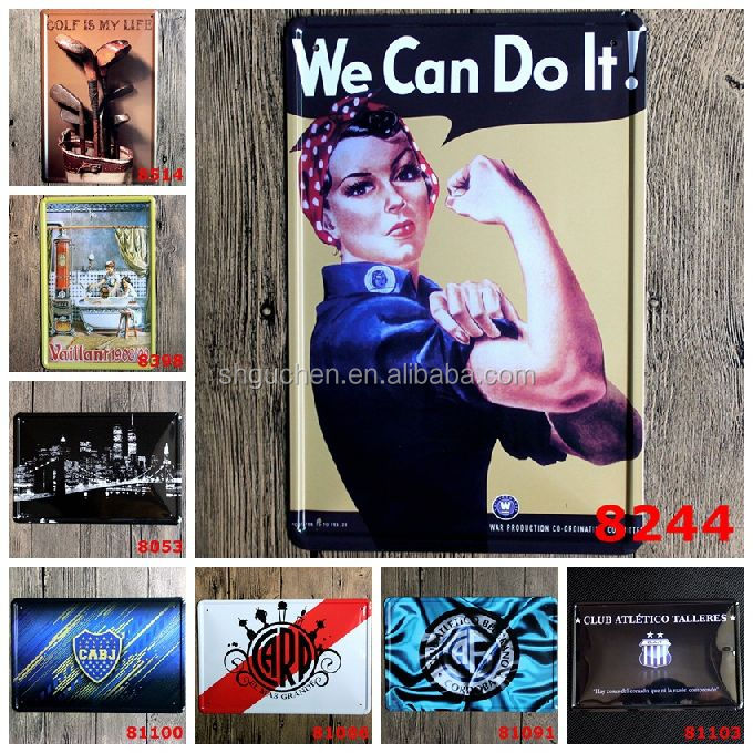 Wholesale We Can Do It Golf Metal Sign Vintage Tin Sign Metal Plate Family Wall Metal Plaque Home Pub Bar Restaurant Decor