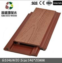 Outdoor decorative composite wall panel eco-friendly wood plastic wall cladding