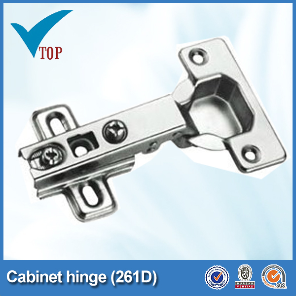 Iron furniture nickel plated 45 angle cabinet hinges