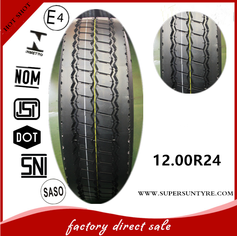 Heavy loader truck tire 12.00R24