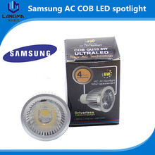 luxury aluminum 6W COB GU10 led spotlight gu10 6w led samsung ac cob