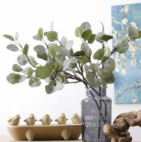 Artificial flowers green leaves 60cm eucalyptus for home decoration