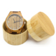 2 Piece MOQ Dropshipping Eco - Friendly FSC With Your Logo Quartz Mechanism Indonesia Bangle Wood Watch With Leather Band