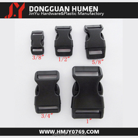 plastic side release buckle/plastic dog collar buckle/plastic curved buckle for pet collar