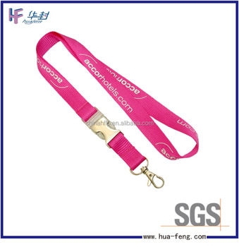 neck strap lanyard with heavy duty metal breakaway