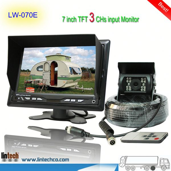 China supplier - 7 inch waterproof night vision hyundai verna rearview camera (LW-070E)
