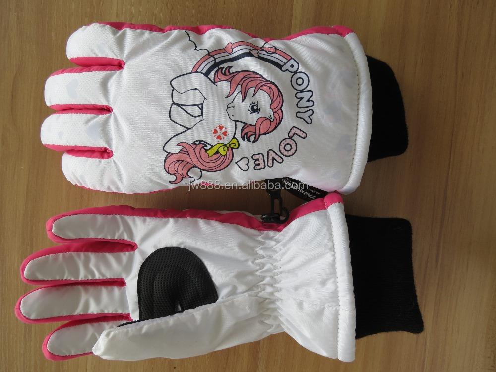 color changing kid thinsulate ski gloves