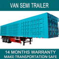 Van Semi Trailer With Side Wall For Bulk Products Container Transportation Made From Carbon Steel With 50 Ton Three Axles