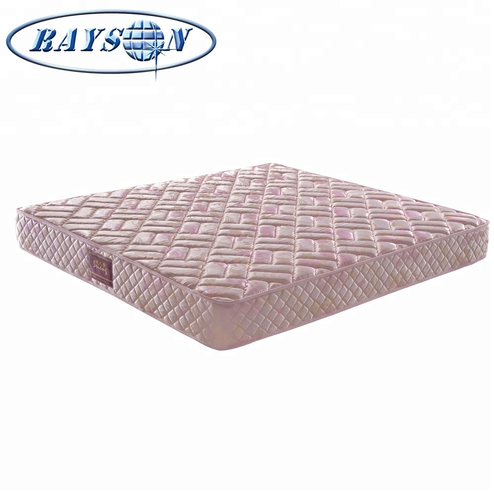 Wholesale use bed Euro top bonnell spring mattress double layers natural palm coconut spring mattress - Jozy Mattress   Jozy.net