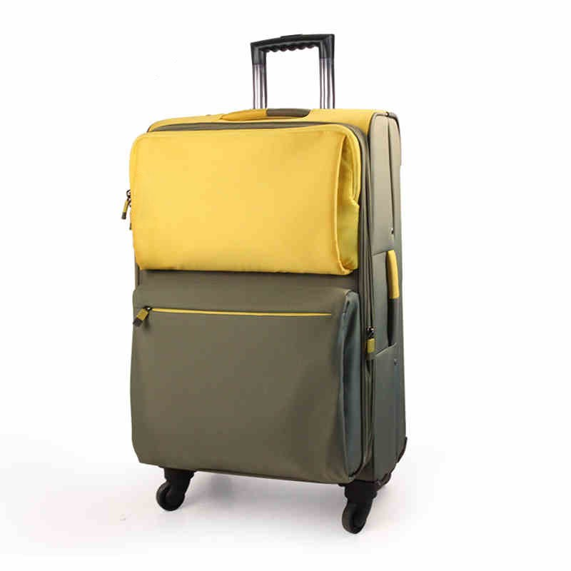 alibaba yellow suitcases 4 wheels trolley school bag for promotion