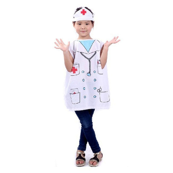 7000958-Hot Sale Kids Profession Costumes Performance Clothes Girls Nurse Uniforms Cosplay Costume