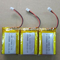 Hot sale 103450 3.7v 1800mah li ion battery for GPS